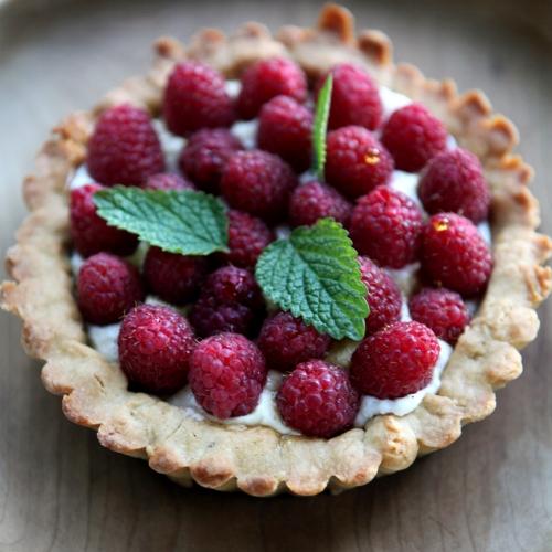 Raspberry Tartlet with Lemon Custard