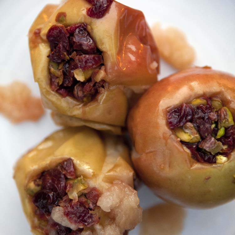 Stuffed Apples Baked in Hot Coals - SEE RECIPE