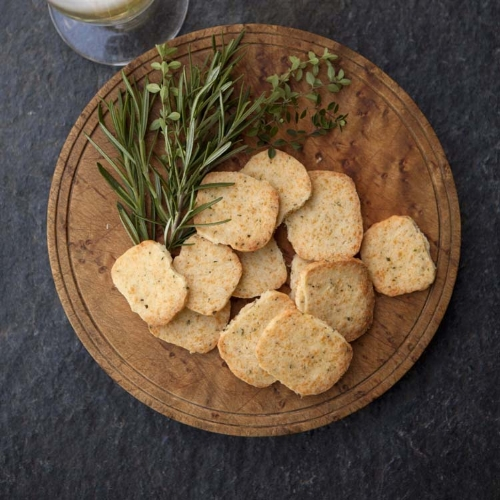 Rosemary and Lemon Thyme Cheddar Crackers