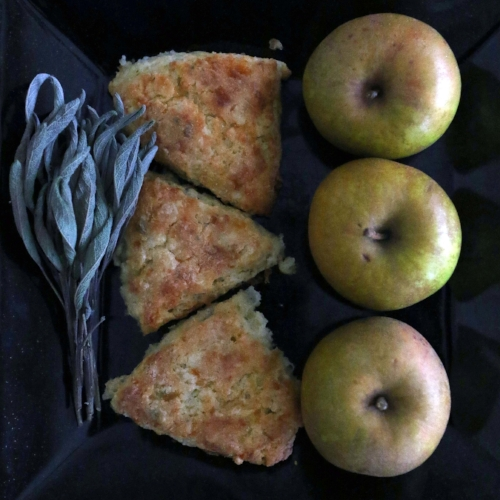 Apple, Cheddar, and Sage Biscuits