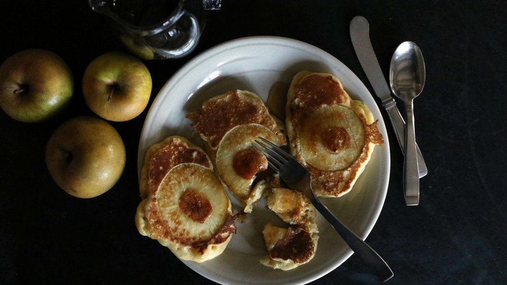 Cooking with apples - Apple Pancakes