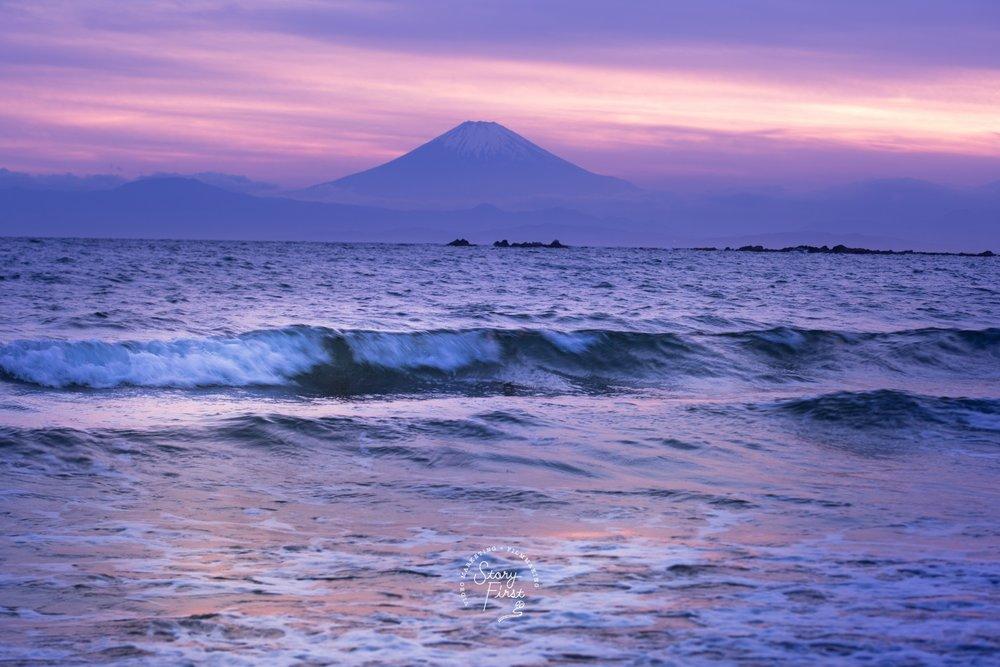 一色海岸 / 富士山