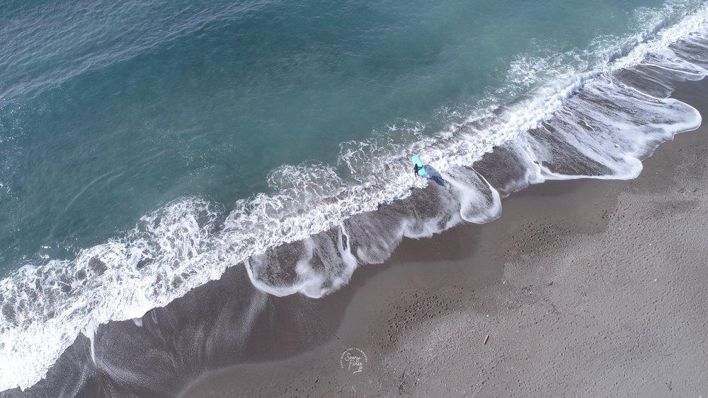 葉山町 一色海岸 サーファー