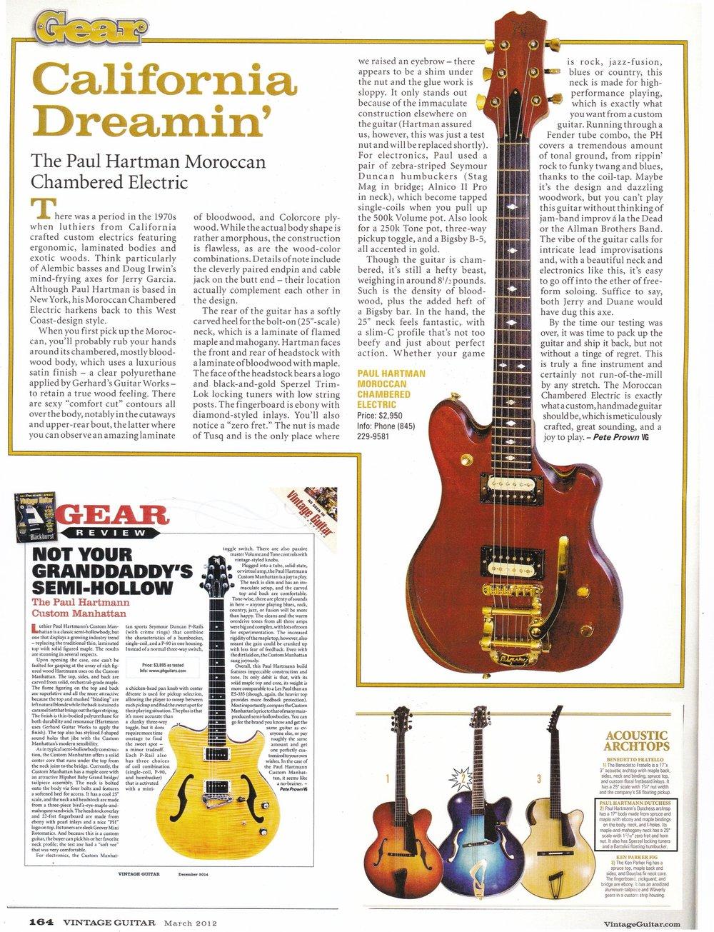 Vintage Guitar March, 2012