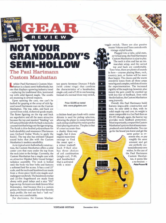 Vintage Guitar December 2014
