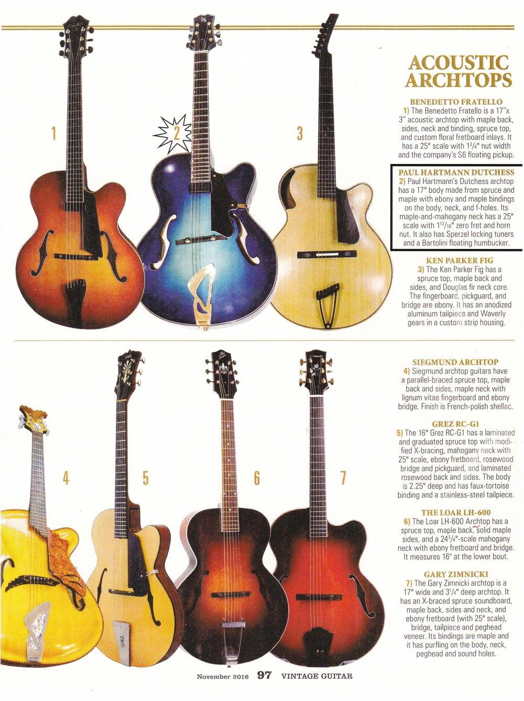 Vintage Guitar November 2016