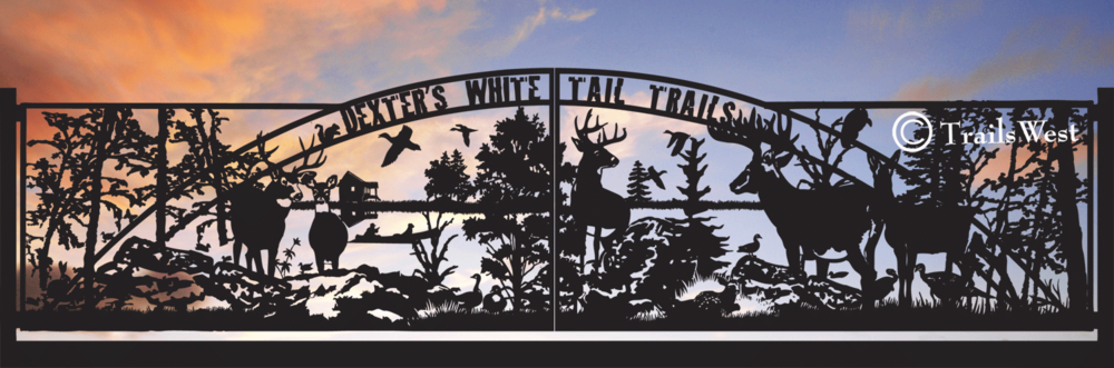 DEXTER'S WHITETAIL TRAILS   24' Double Swing Gate