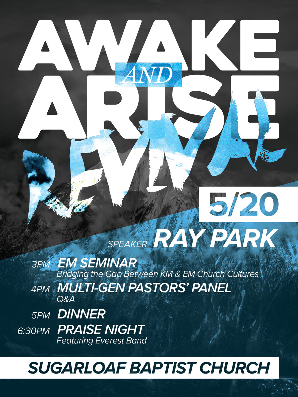Awake & Arise Revival - To promote a conference for Servants Network.
