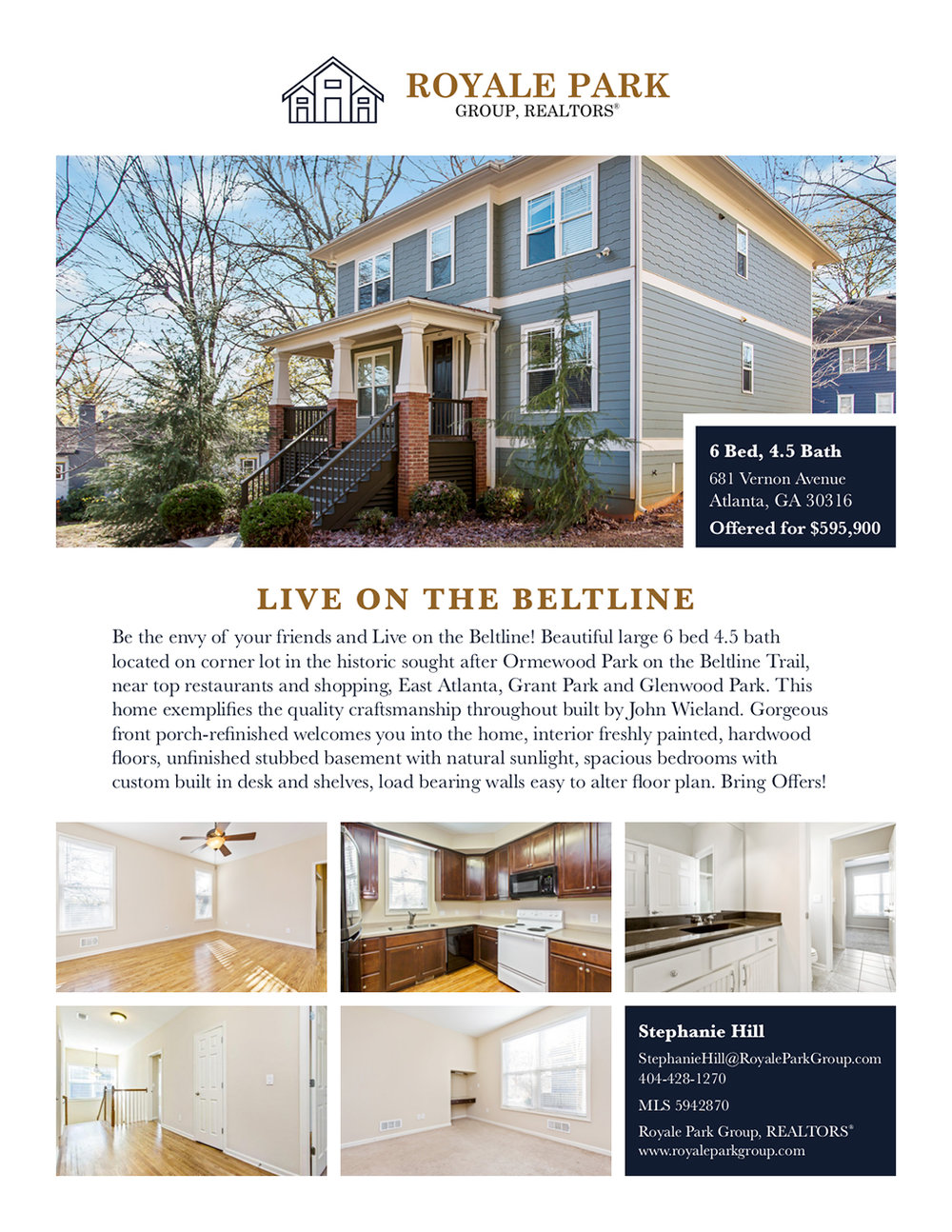 Real Estate Listing - To promote a house listing by Royale Park Group.