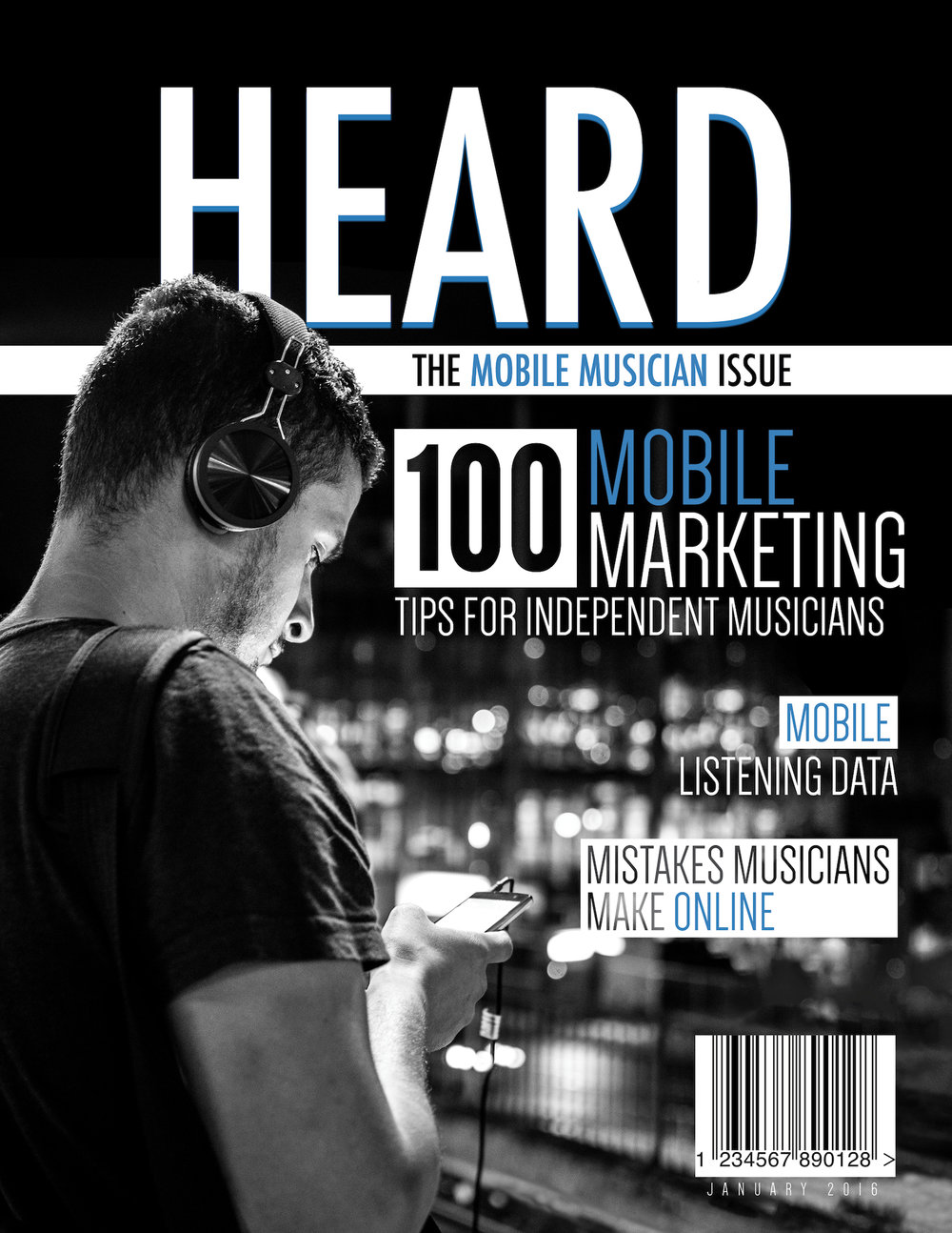HEARD Magazine Cover - A cover for a musical magazine.