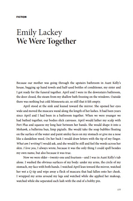 """We Were Together"" First Page"