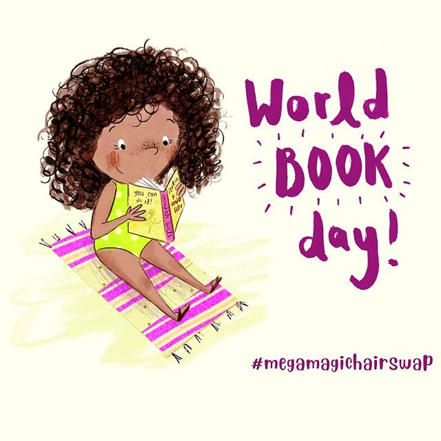 Happy #worldbookday everyone! 💓🥥💫 it's been amazing to see your costumes!  #megamagichairswap #worldbookday2019 #picturebooks