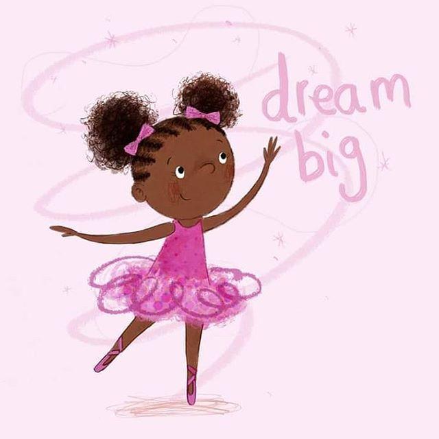 Dream big on #internationalwomensday 💓  #childrensillustration #childrensbooks #representationmatters #blackgirlmagic
