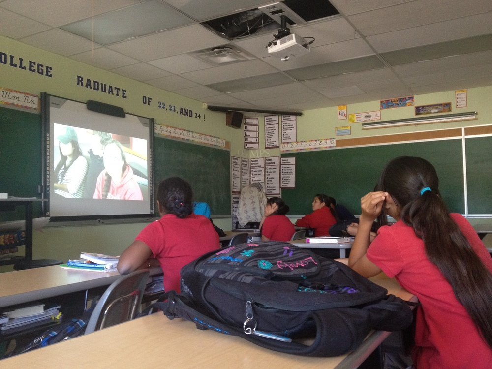 College Knowledge video screening for elementary school students on the Navajo Nation