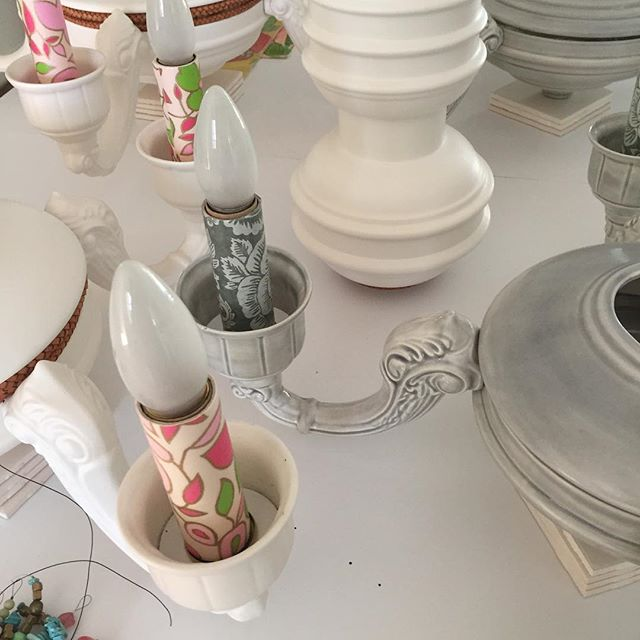 Back in the saddle 🏇#chandeliers #ceramics #pickacoloranycolor