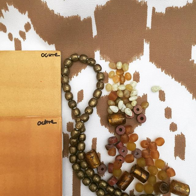 Fall inspiration for a new chandelier. Love playing with color, beads and fabric. #ceramics #chandelier #autumn #ontheflooragain #interiordesign #lighting #beads #color #fabric
