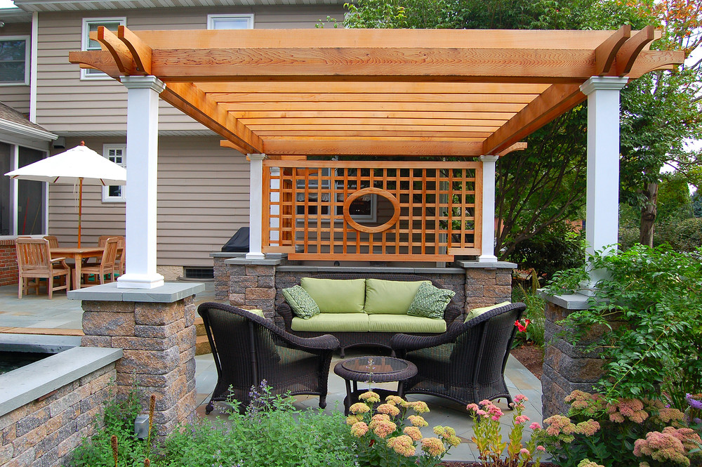 Patio design with pergola in Lititz, PA