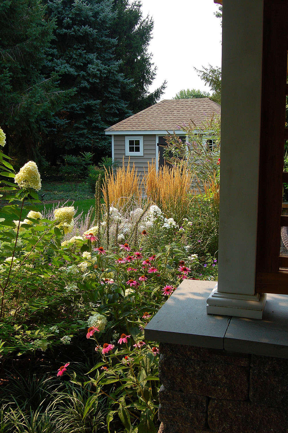 Garden design and patio in Lititz, PA