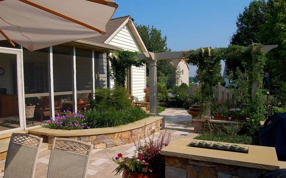 Residential landscaping in Landisville, P
