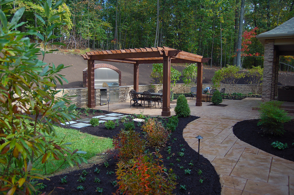 Traditional backyard patio for clients in Harrisburg, PA.