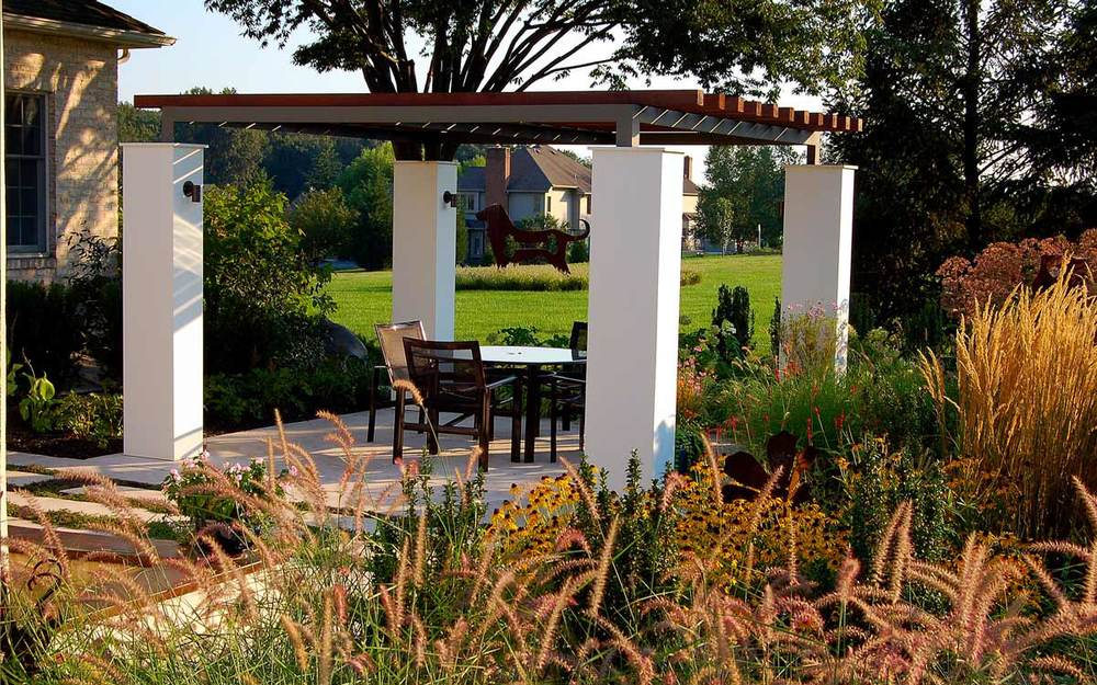 York, Pa Landscape Design with Pergola