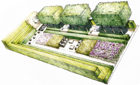Rendering of the Laurent-Perrier Garden.