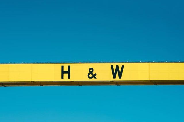 Harland & Wolff #belfast #harlandandwolff #belfastcranes #samsonandgoliath #northernireland #ireland #blueskydays