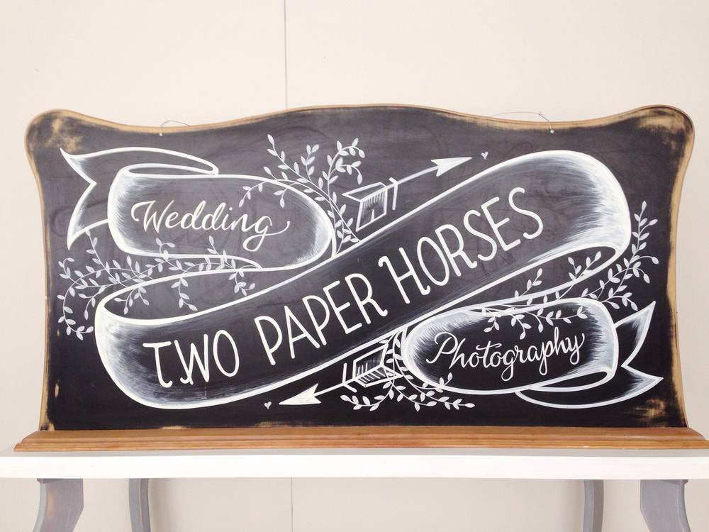 two paper horses