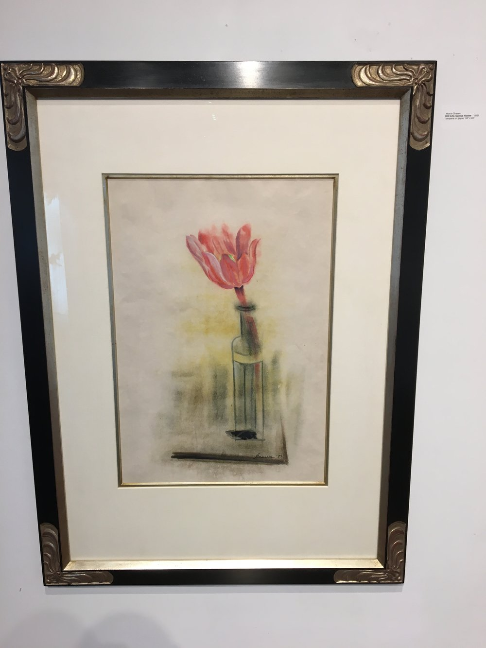 Still life with Cactus Flower painting by Morris Graves.
