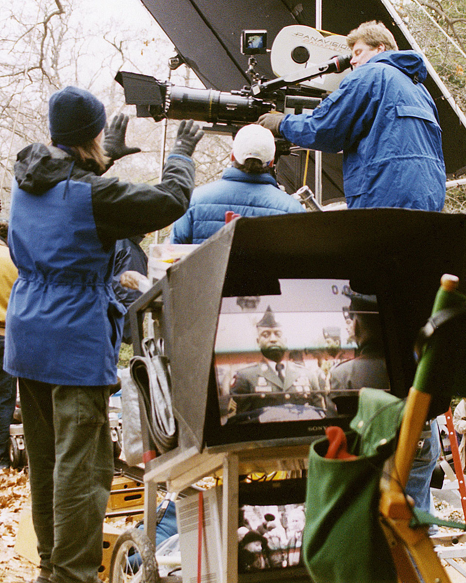 Academy Award-nominee Scott Hicks directs a scene for his film  Hearts in Atlantis  in Richmond, VA. 2000