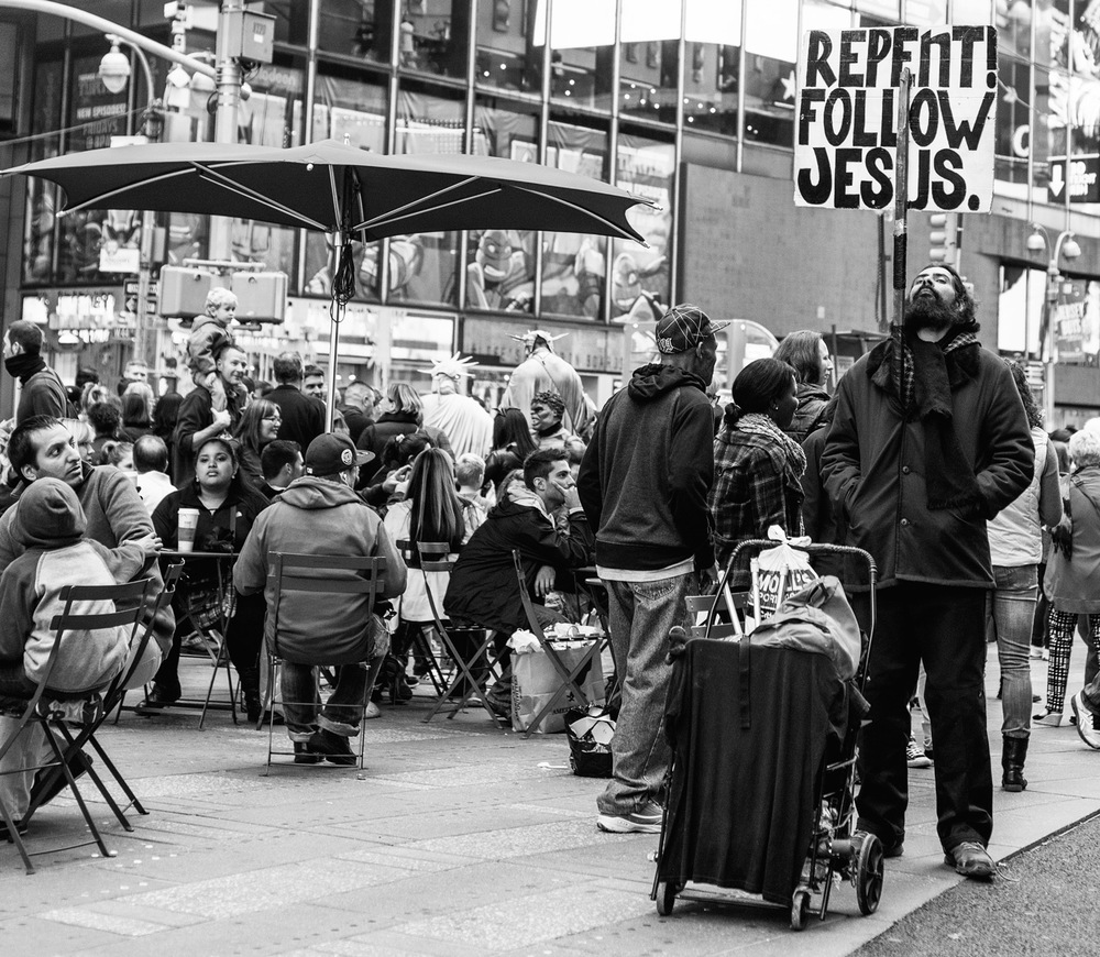 Repent! Follow Jesus.  NYC, October 2014