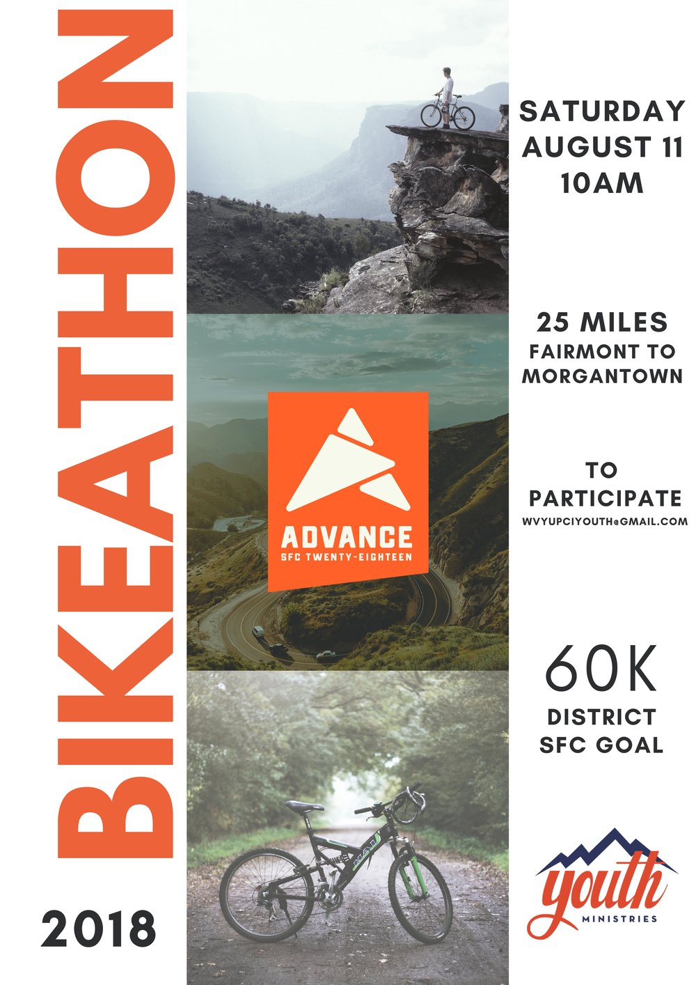 Please note the date change due to the weather postponement.     Click  HERE  to download the Bike-a-Thon Sponsor Form.