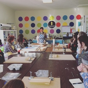 Workshops   Schedule a night out at Yellow Door and get creative with your friends! We offer a variety of activities, not just painting on canvas but glass painting, sculpture, printmaking and even ceramics... just give us a call!