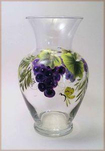 Glass Vase Painting Yellow Door Art Studios