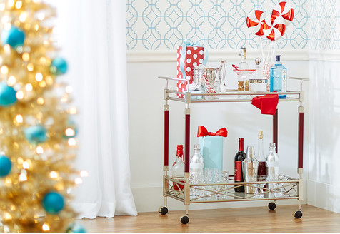 wayfair christmas bar cart