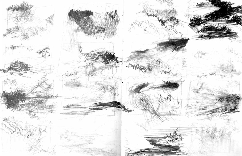 Abstract landscapes , 2009 graphite on paper, sketchbook 59,4 x 42 cm