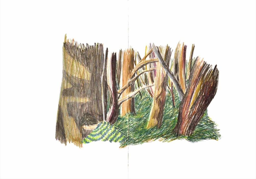 Sokourov , 2011 crayons on paper, sketchbook 59,4 x 42 cm