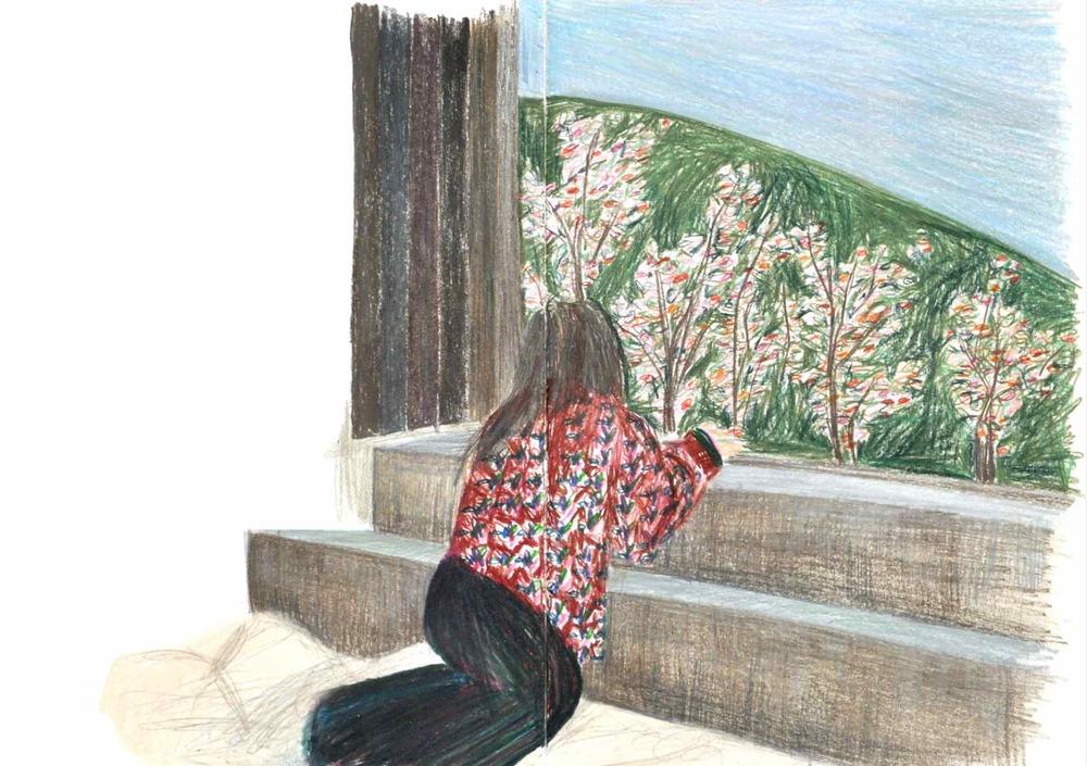 Sokourov , 2011 crayons on paper,sketchbook 59,4 x 42 cm