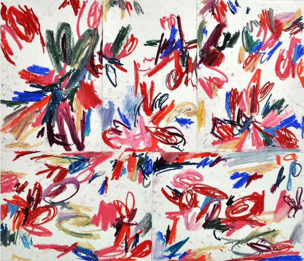 All-over , 2011 oil pastels on paper 89,1 x 71,7 cm