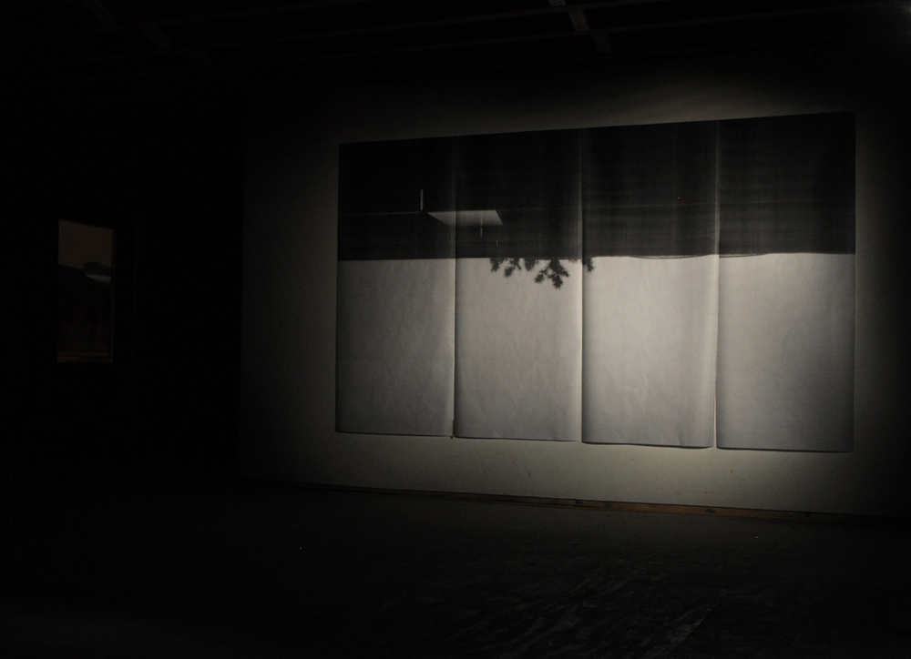 Suspended landscape , black and white photograph, 400 x 250 cm, 2012