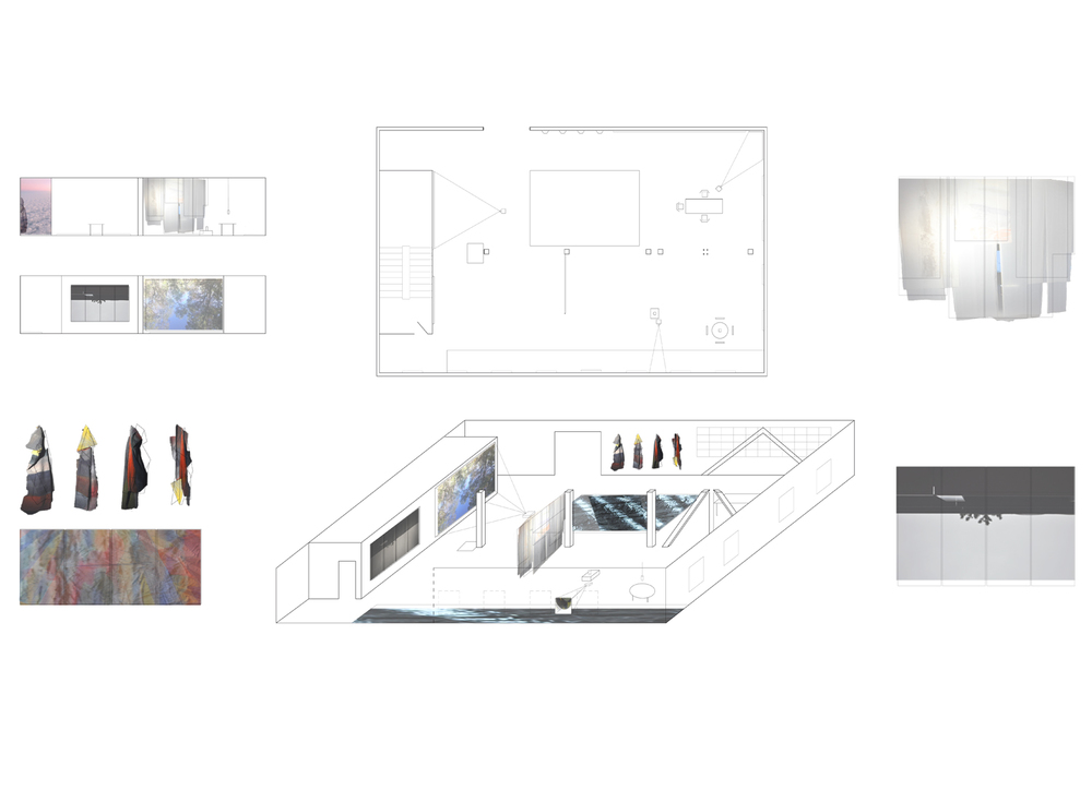 blueprint of the installation, Pioneer Works, New York, 2012