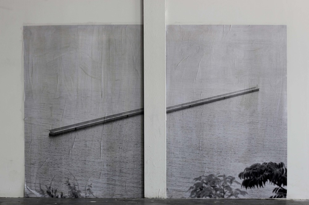Inland,  2014 c-print pasted on wall dimensions variable  photo © Maximiliano Siñani