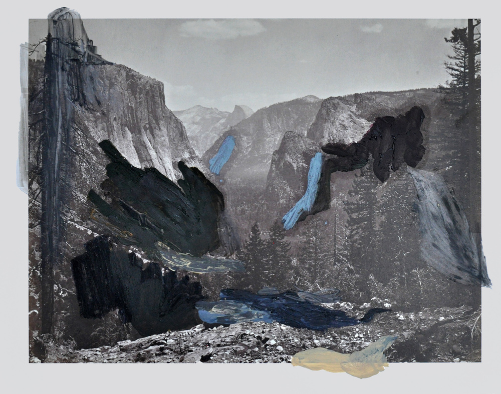 Over Watkins , 2015 oil, gouache, graphite, ink on c-print 28 x 35 cm