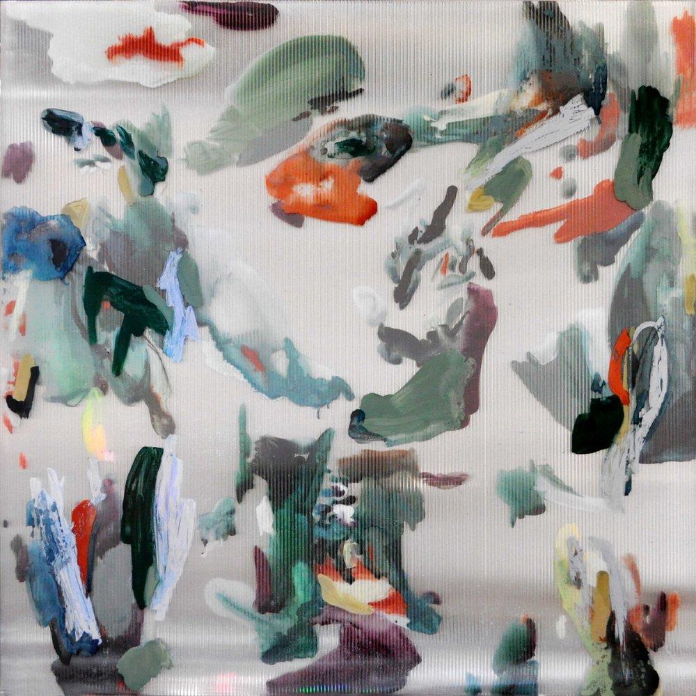 Untitled (Veranda) , gouache, oil, ink, acrylic on polycarbonate, 120 x 120 cm,2016