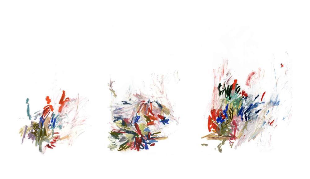 Royals , 2011 oil pastels on paper 42 x 29,7 cm each (individual works below)