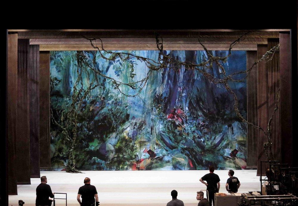Marais backdrop , installation view, Théâtre du Capitole, Toulouse, 2017