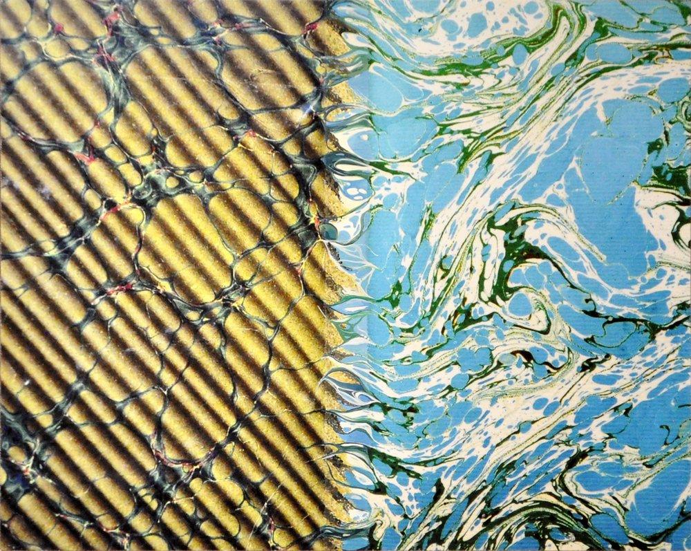 Ecritures (Essai, Atala, Génie, Génie, Voyage, Mémoires, Mémoires) , 2017  oil on fine art print, mounted on wood,sand paper,series of 7 34 x 27 cm