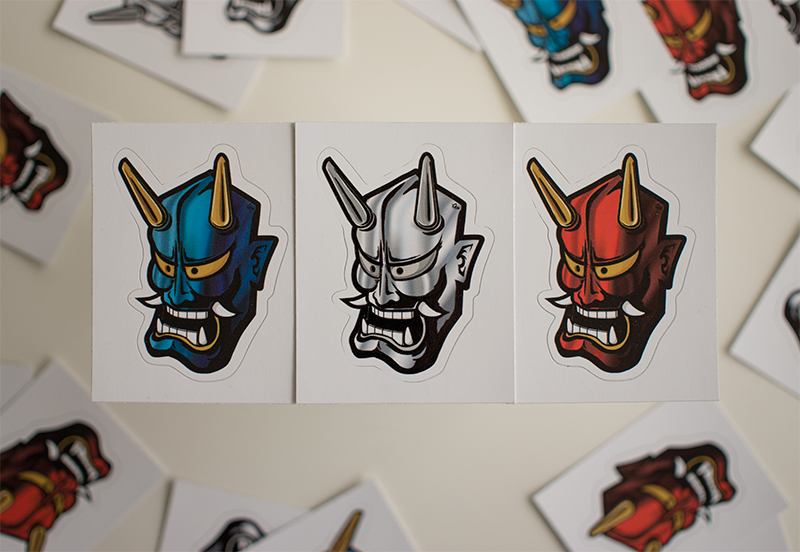 Hannya stickers jpg