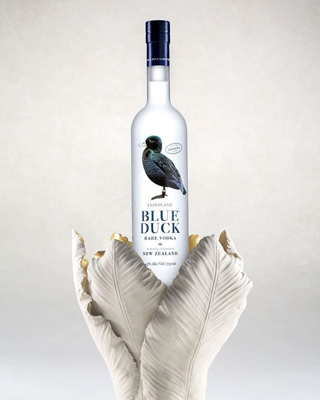 We love this shot by @robinsmithnz of  @blueduckvodka taken last year for their new branding imagery. We can certainly say we haven't tasted better vodka yet! #smithstudiosnz #productphotography #vodka #nzbrand #studio