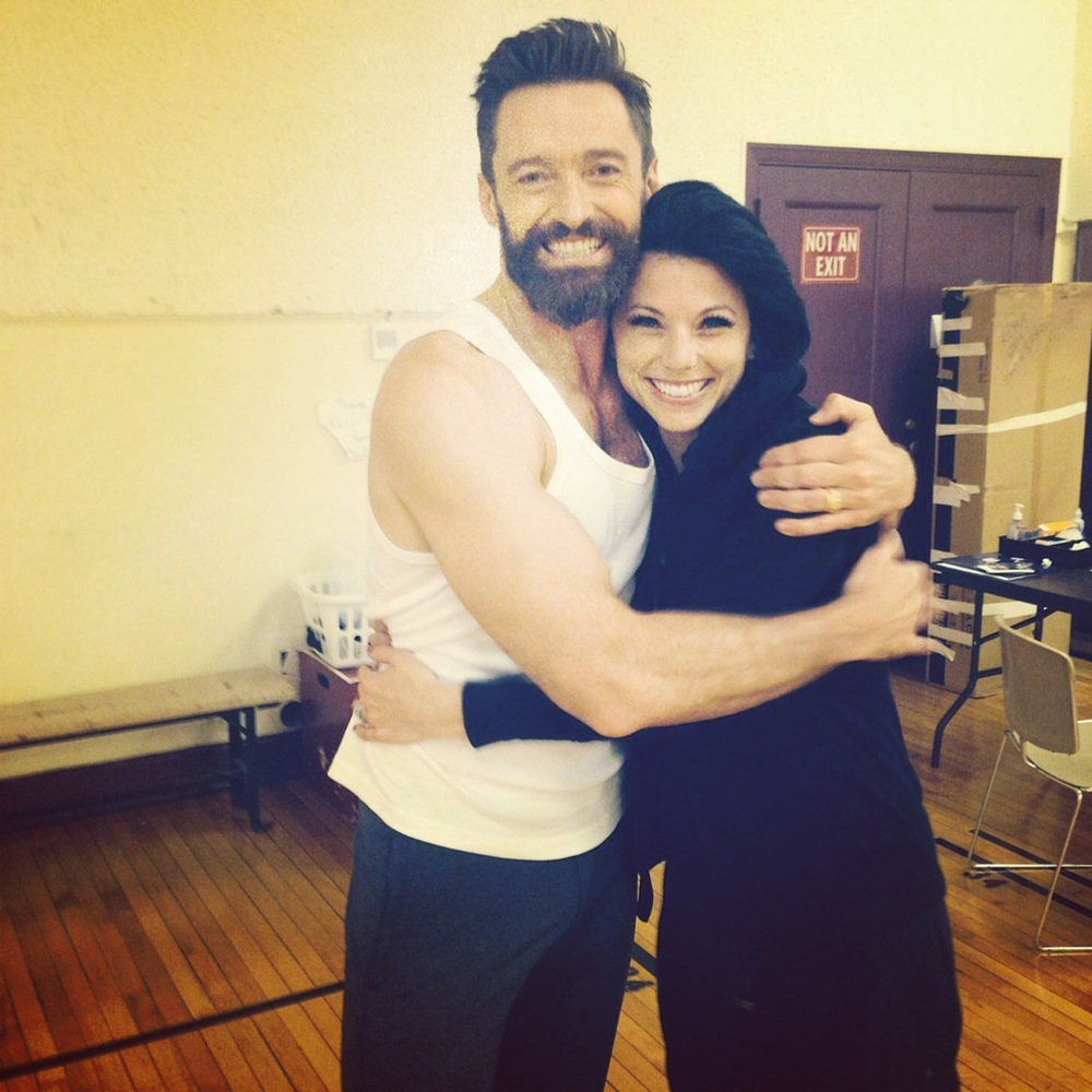 with the incredible Hugh Jackman